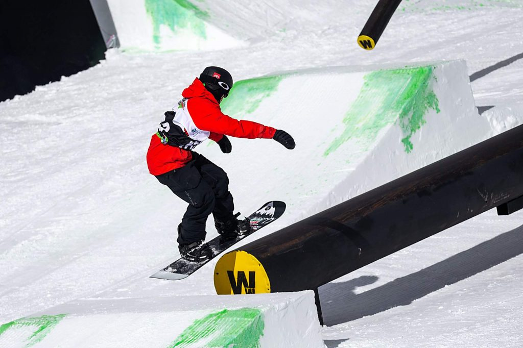 Red Gerard takes gold in the men's snowboard slopestyle final with a 97.33 on Saturday, Feb. 8, day three of the Winter Dew Tour at Copper Mountain.