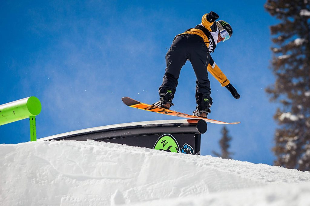 Stale Sandbech takes bronze in the men's snowboard slopestyle final with a 94.00 on Saturday, Feb. 8, day three of the Winter Dew Tour at Copper Mountain Resort.