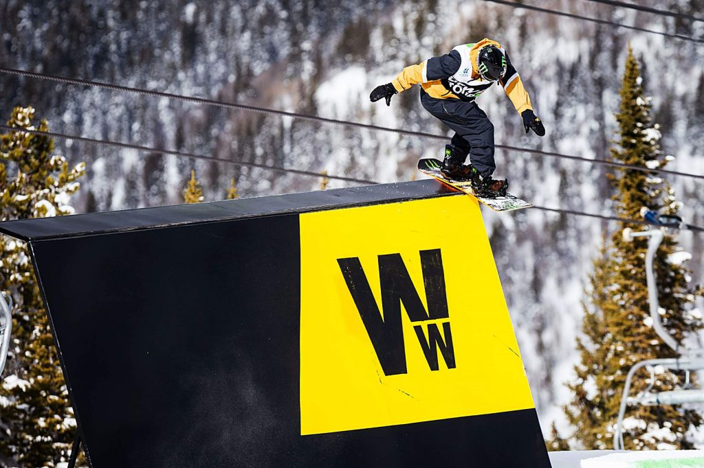 Stale Sandbech takes bronze in the men's snowboard slopestyle final with a 94.00 on Saturday, Feb. 8, day three of the Winter Dew Tour at Copper Mountain.