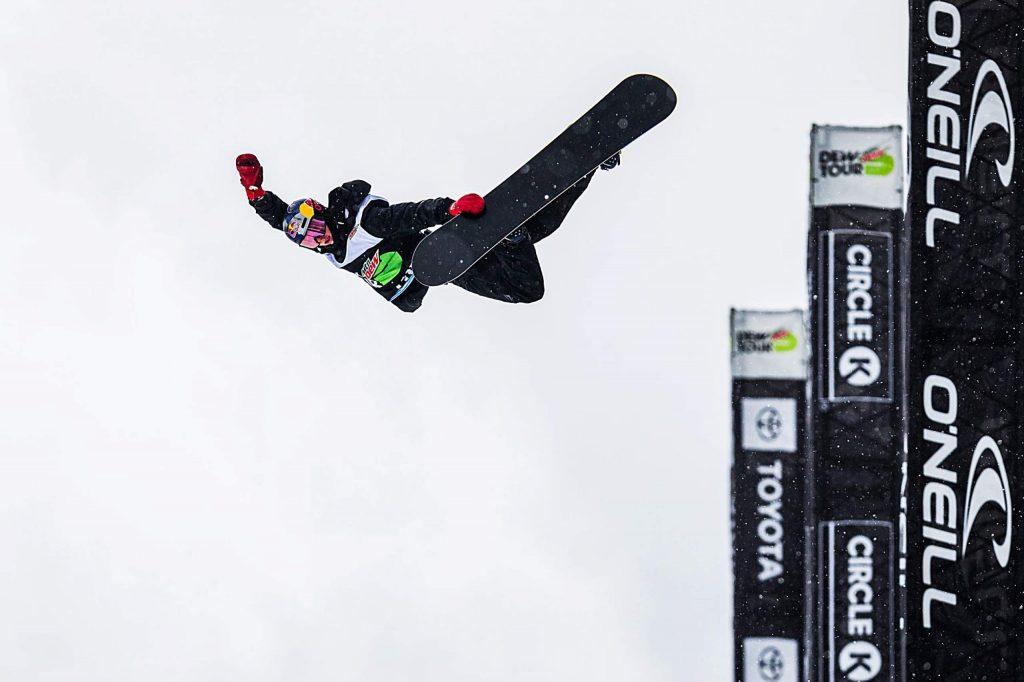 Australian Scotty James sends a huge method during his men's snowboard superpipe win with a score of 95.33 at Copper Mountain's Winter Dew Tour on Sunday, Feb. 9.