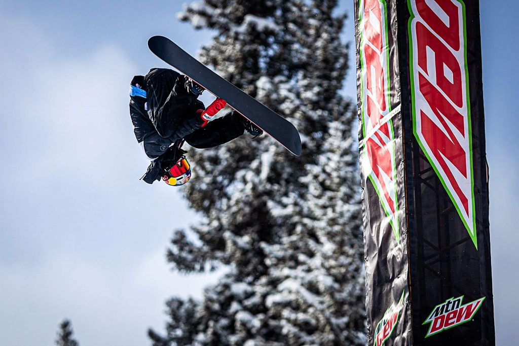 Australian Scotty James spots his landing during his eleventh straight snowboard superpipe win with a score of 95.33 at Copper Mountain's Winter Dew Tour on Sunday, Feb. 9.