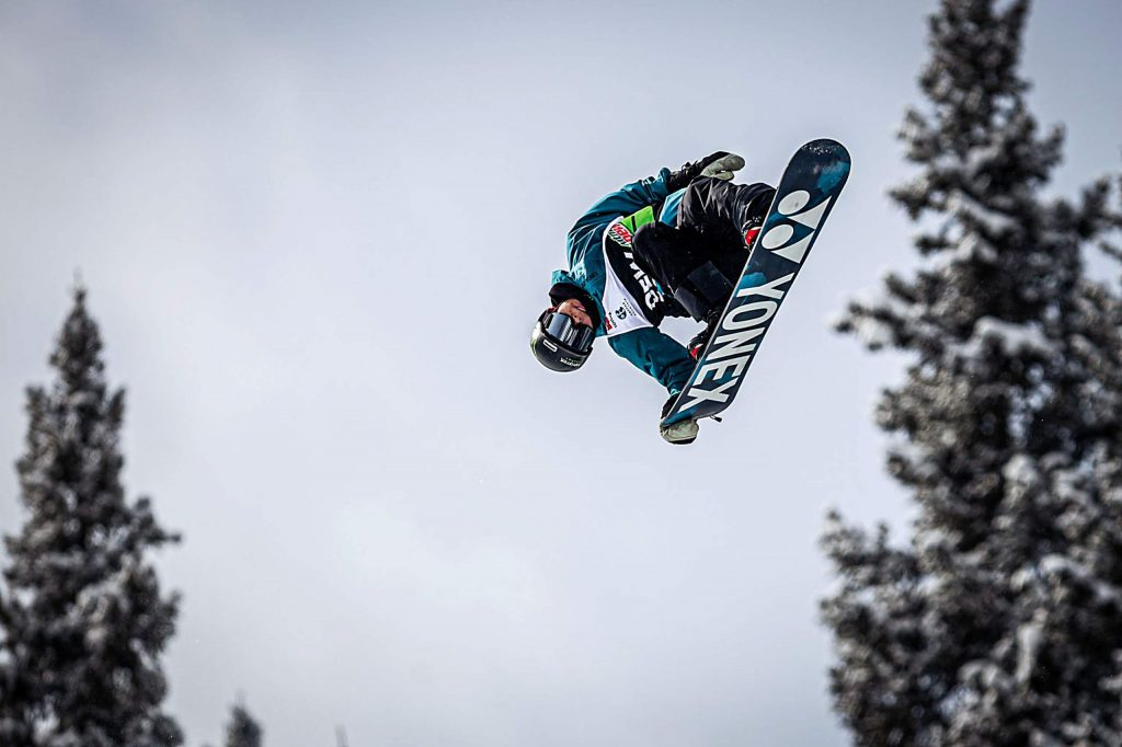 Japan's Yuto Totsuka takes second in the men's snowboard modified superpipe final with a score of 93.33 on Sunday, Feb. 9, day four of the Winter Dew Tour at Copper Mountain.