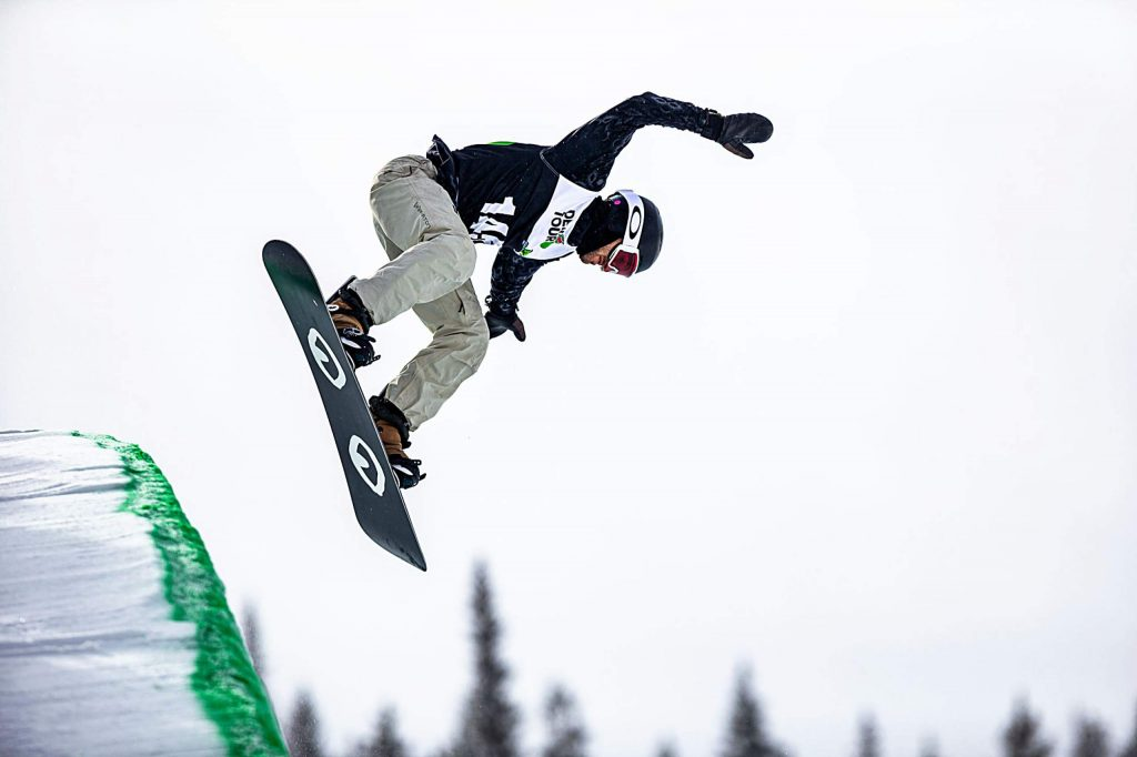 Switzerland's Pat Burgener takes third in the men's snowboard modified superpipe with a score of 91.00 on Sunday, Feb. 9, day four of the Winter Dew Tour at Copper Mountain.