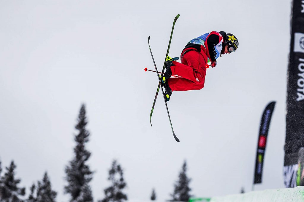 Alex Ferreira of Aspen competes in the men's ski modified superpipe final on Sunday, Feb. 9, day four of the Winter Dew Tour at Copper Mountain.