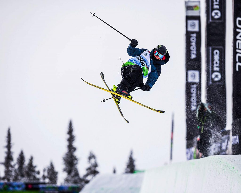 Birk Irving of Winter Park competes in the men's ski modified superpipe final on Sunday, Feb. 9, day four of the Winter Dew Tour at Copper Mountain.