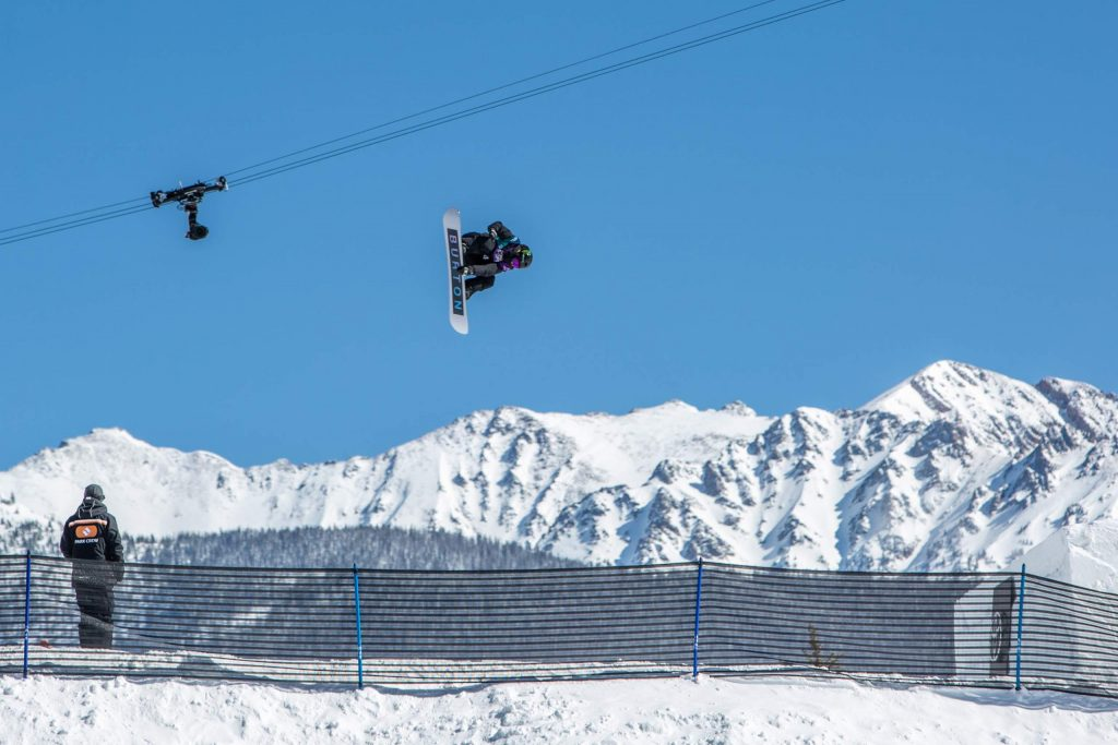 Zoi Sadowski-Synnott flies off a jump in the slopesyle semifinals at the Burton US Open Wenesday in Vail. The 18-year old from New Zealand qualified for Friday's finals in first position.