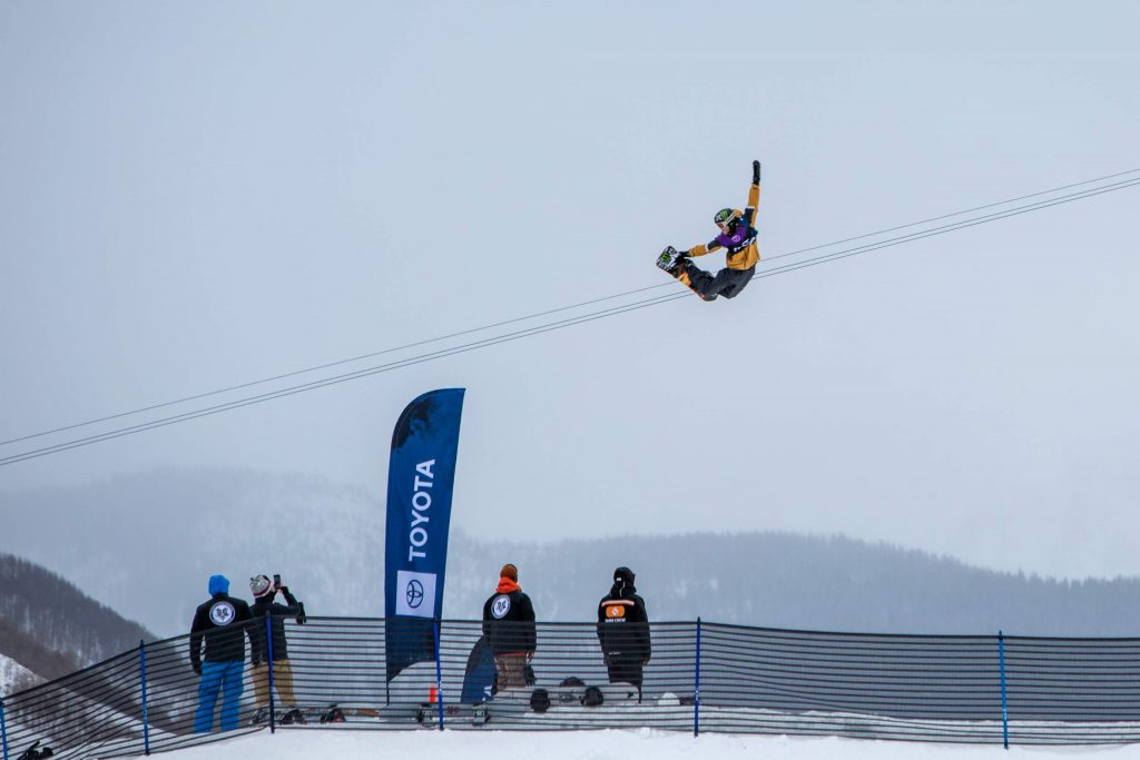 Stale Sandbech tweaks out a grab during the Burton US Open slopestyle competition Wednesday in Vail. Sandbech qualified for Friday's finals in third position.