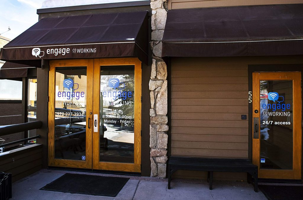 Engage Coworking space is a communal workspace on the Snowmass Village Mall on Friday, Feb. 21, 2020. (Kelsey Brunner/The Aspen Times)