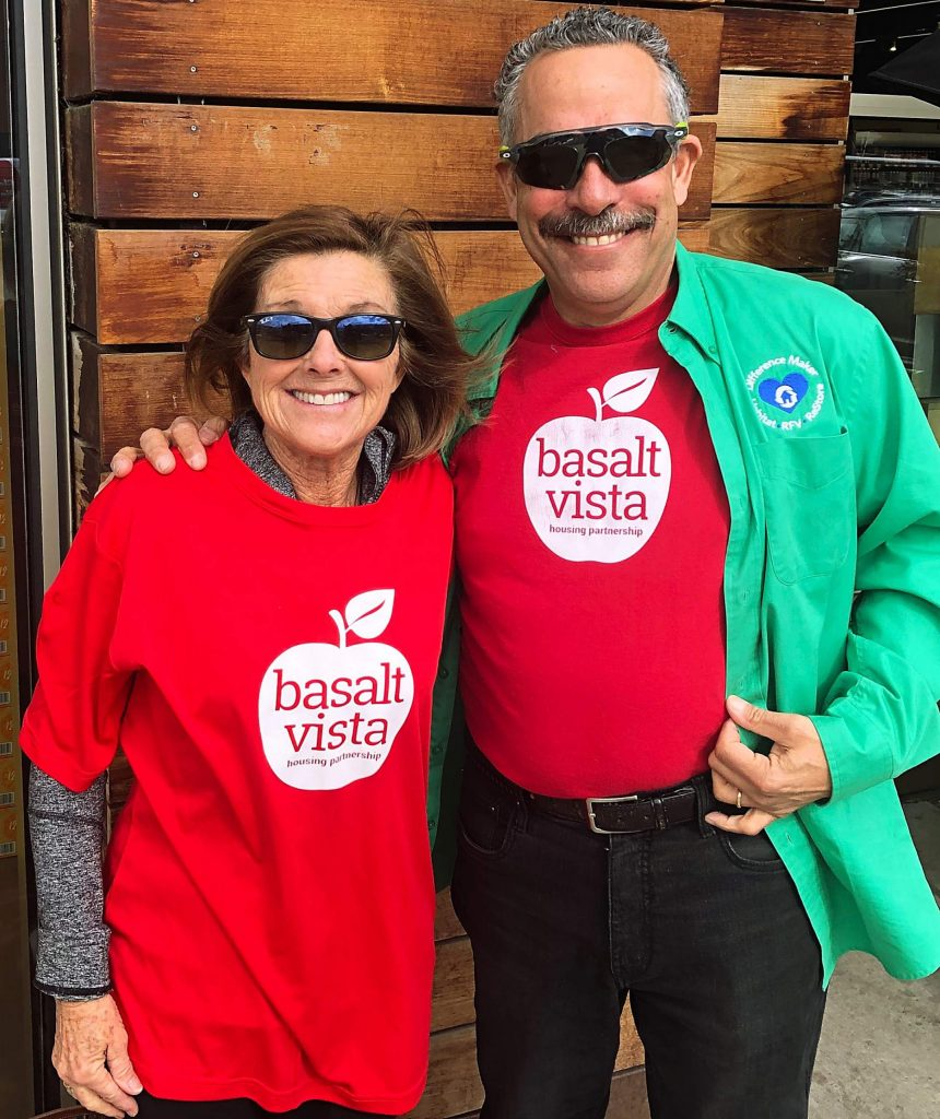 Scott Gilbert will step down as president of Habitat for Humanity Roaring Fork today. He will be replaced by Gail Schwartz as interim president. They joked Monday that the future is so bright, they had to wear shades.