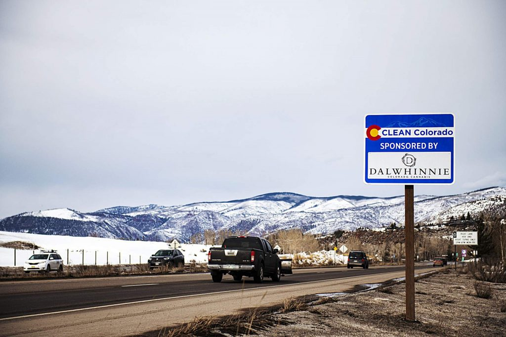 The Dalwhinnie Group's sponsorship of Highway 82 includes 11 total segments with a branded sign for each.