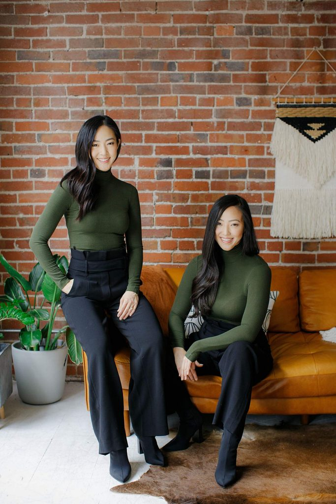 Identical twin sisters and Two Cranes Botanicals co-founders Hanna Yi and Susun Chung.