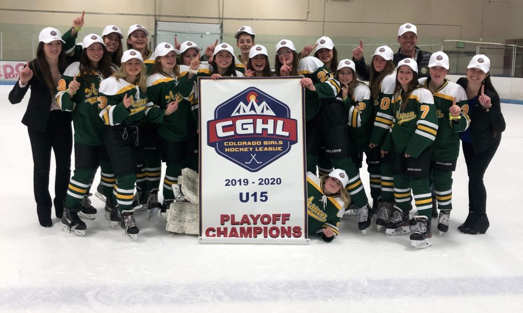 Aspen Junior Hockey's 15U A team won the Colorado Girls Hockey League state championship over the weekend in Denver.