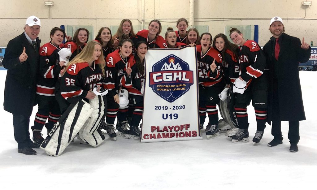 Aspen Junior Hockey's 19U A girls hockey team won their third straight state championship over the weekend, finishing the season with a perfect 25-0 record.