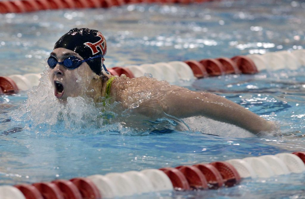 Aspen's Kayla Tehrani competes in the Colorado High School Class 3A state swim championships at VMAC in Thornton on Feb. 15, 2020.