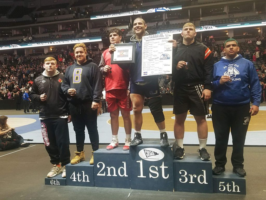 Basalt senior Ernesto Lopez finished fourth at the state wrestling tournament on Saturday, Feb. 22, 2020, in the 3A heavyweight division.