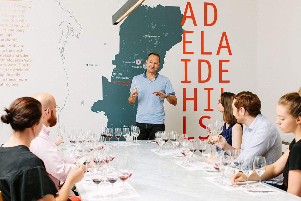 Michael Hill Smith leads an educational wine tasting for which he is in much demand as the first Australian to achieve the title of master of wine.