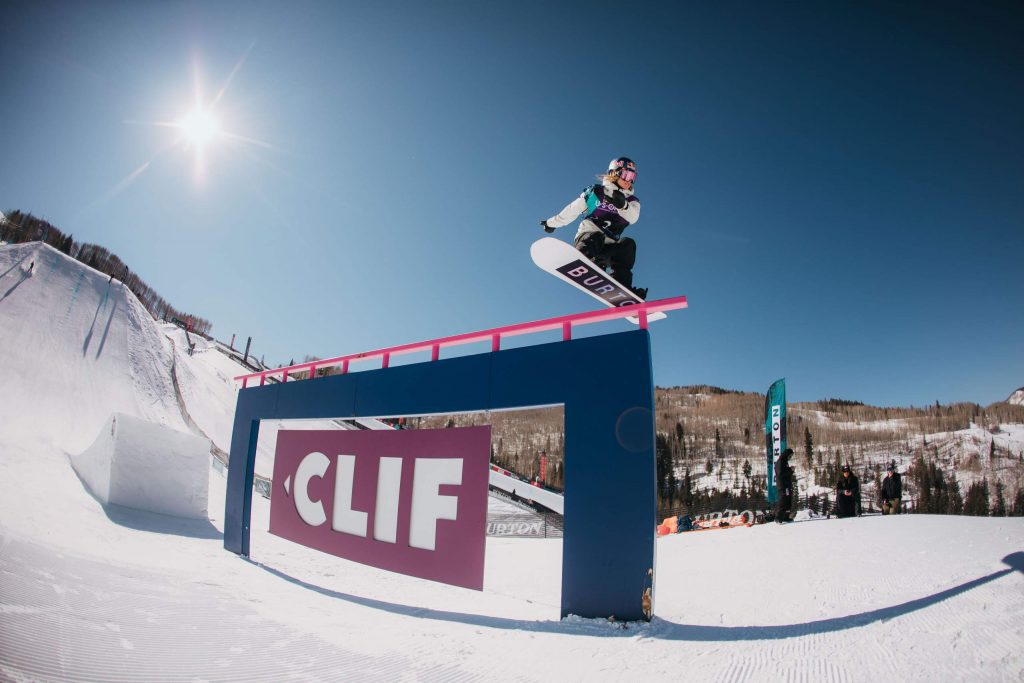 Austria's Anna Gasser competes in the women's slopestyle final of the Burton US Open on Friday, Feb. 28, 2020, in Vail.