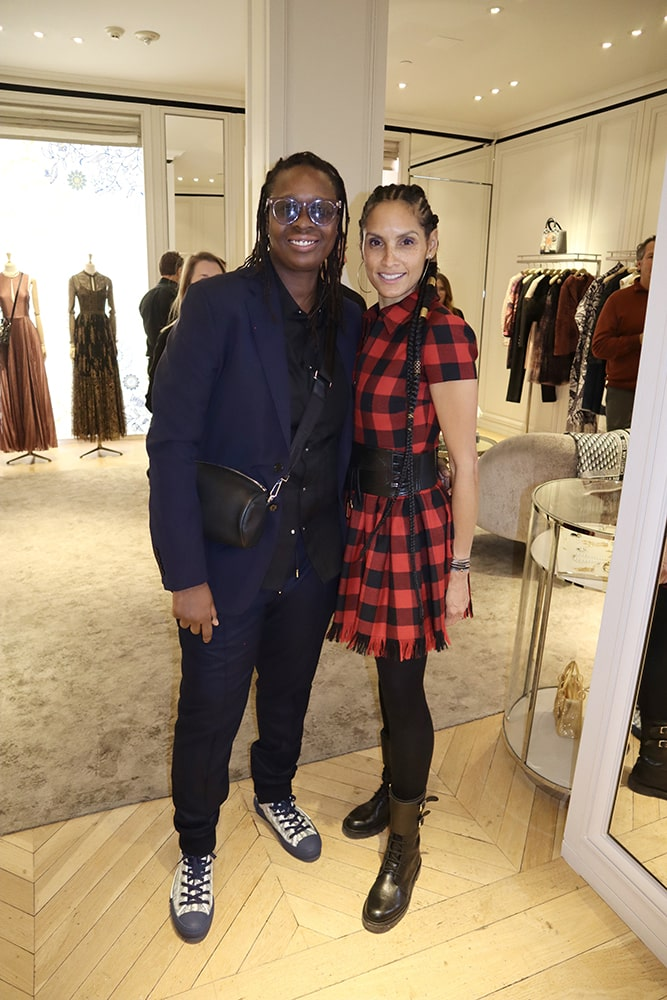 You can access museum collections from all around the world from the comfort of your couch through online exhibits and YouTube tours. This includes the Guggenheim in NYC where artist Mickalene Thomas has works on display. She's shown here with wife Raquel Chevremont at an-store party at Dior Aspen this winter.