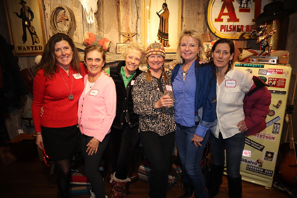 Liz MacLean in red and several of her great friends at Kemo Sabe for an apres fiesta on Feb. 13.