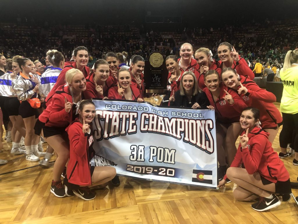 The Aspen High School dance team won the Class 3A state championship in poms in December.