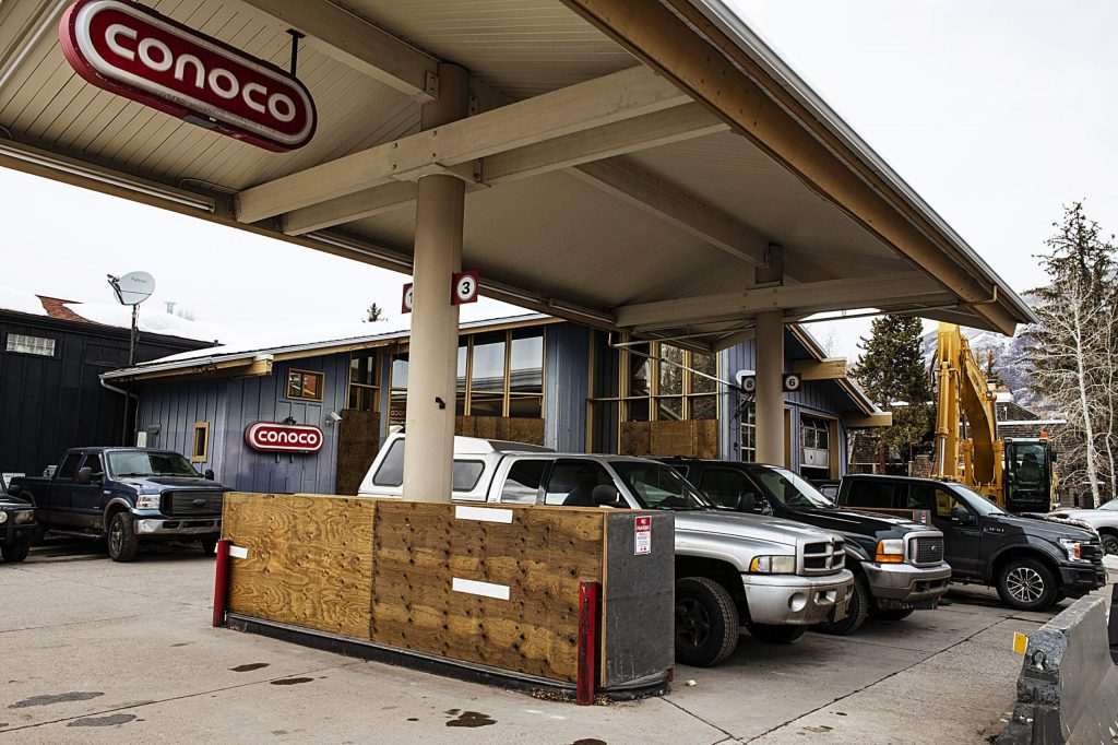 The Conoco gas station at 232 Main St. will be demolished in the next month to make way for a bank.