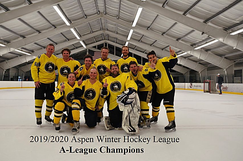 Members of Team Chair 9 were all fun and games after claiming the city of Aspen's Rec A Hockey League championship for the 2019-20 season.