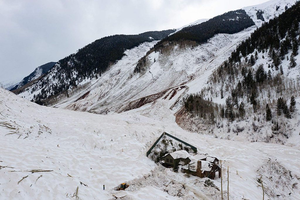 The avalanche that fractured across a nearly 2-mile-wide section of Highlands Ridge in March 2019 was one of the largest in Colorado history. A home in its path survived with minimal damage thanks to a defensive wedge above it.