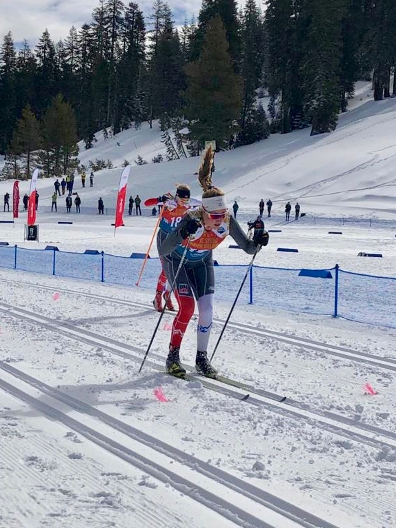 AVSC's Kate Oldham competes in cross-country skiing at the 2020 junior nationals in March near Truckee, California.