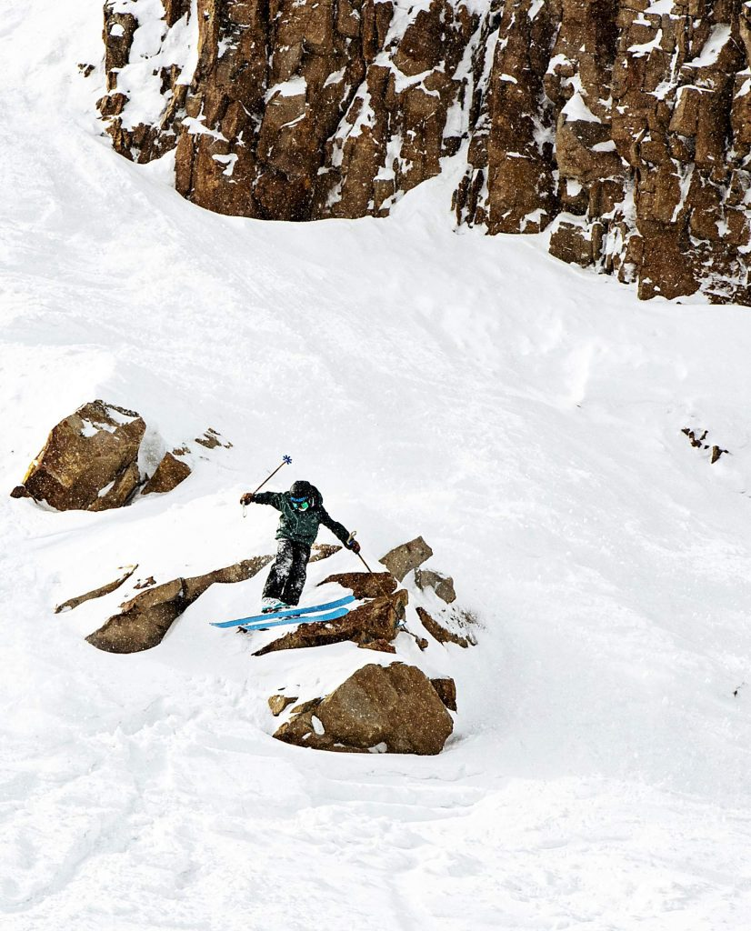 AVSC's Brody Fox competes in the 2020 Colorado Junior Freeride competition off of High Alpine lift at Snowmass on Sunday, March 8, 2020. (Kelsey Brunner/The Aspen Times)