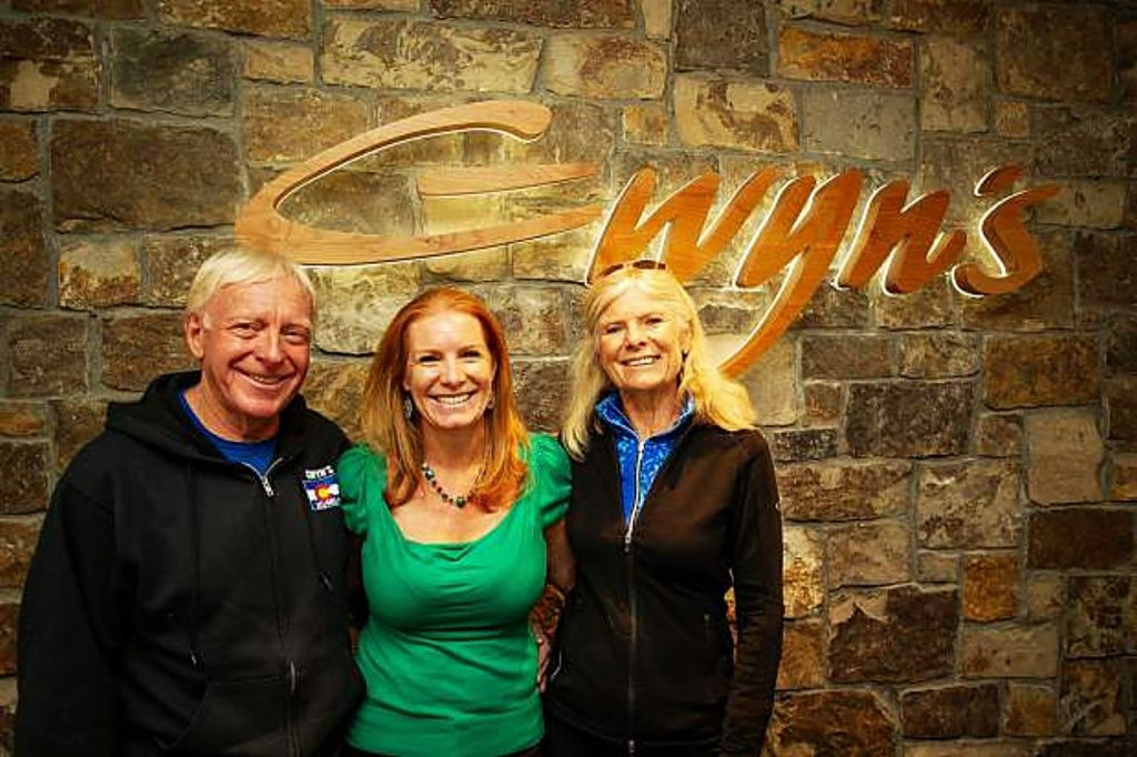 From left, George Gordon, Whitney Gordon and Gwyn Knowlton of Gwyn's High Alpine at Snowmass.