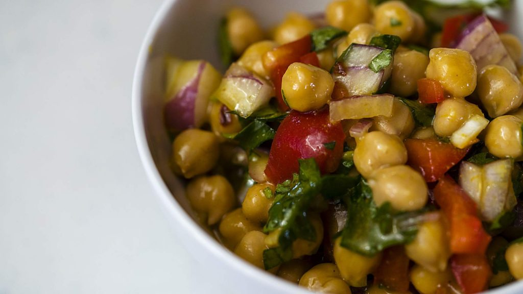 Kitchen Toke's Medicated Lime Curry Chickpea Salad.
