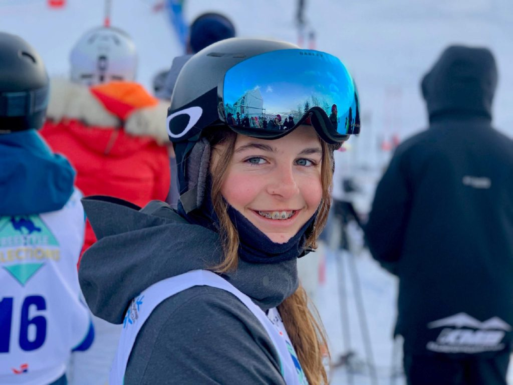 Reese Chapdelaine, of Snowmass Village, is a rising talent in moguls skiing. Only 14, she narrowly missed the podium at junior nationals this winter and won the divisional championship.
