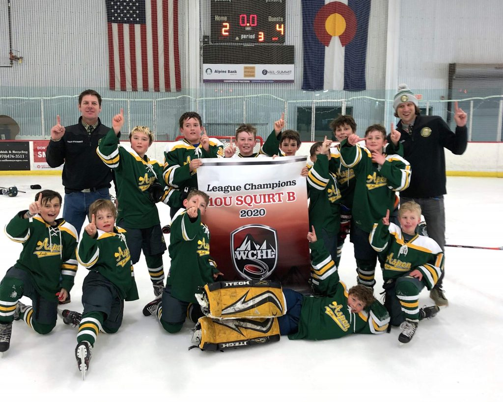 The Aspen Leafs Squirt B team won the league championship.