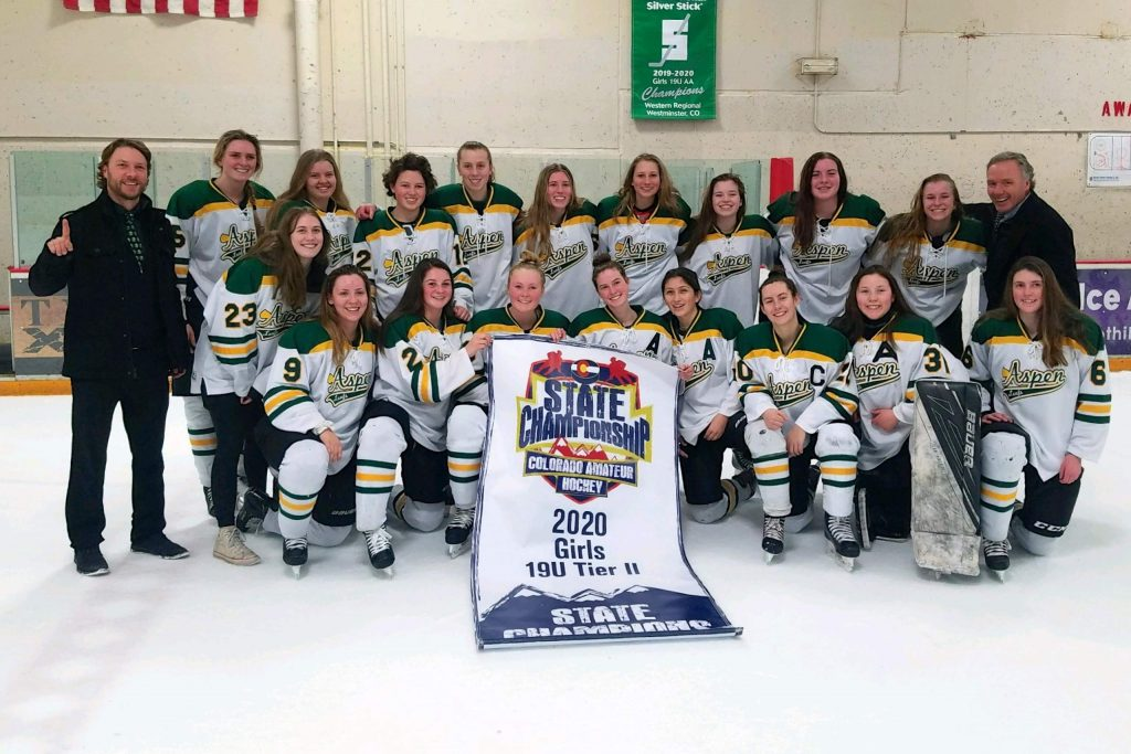 The 19U AA Aspen Leafs girls hockey team punched its ticket to the Rocky Mountain District Championship Tournament after claiming their second straight CAHA Tier-2 State Title.