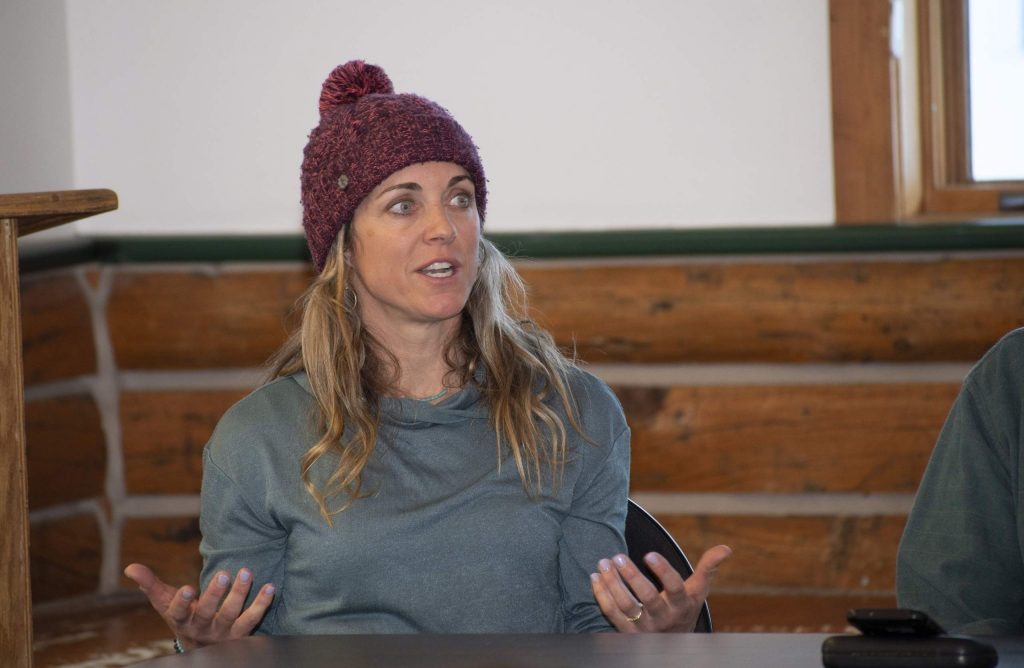Snowboarder and X Games silver medalist Erin Nemec was one of seven former Olympians at a discussion about overcoming adversity at Olympian Hall at Howelsen Hill on Monday, March 2.