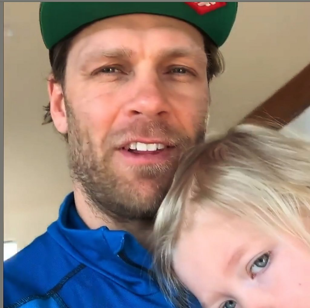 Steven Nyman joined Mikaela Shiffrin during an Instagram chat on Thursday, but it was Nell, 2, who stole the show.