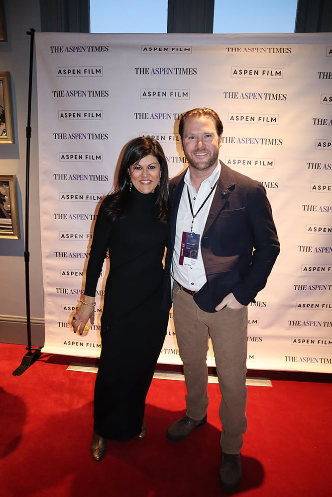 Aspen Film's executive and artistic director Susan Wrubel and board chairman Ryan Brooks on opening night of Academy Screenings in January.