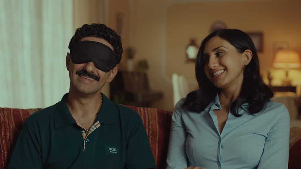 Saeed and Mina, the protagonists in the short film The Manchador by Kaveh Therani.
