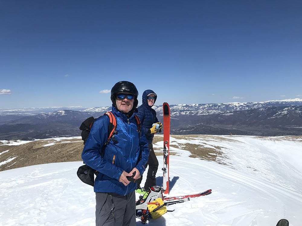 Kevin O'Driscoll and Sean Solon on a skinning mission.