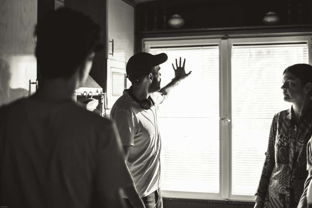 Behind the scenes filming The Manchador with director Kaveh Tehrani.