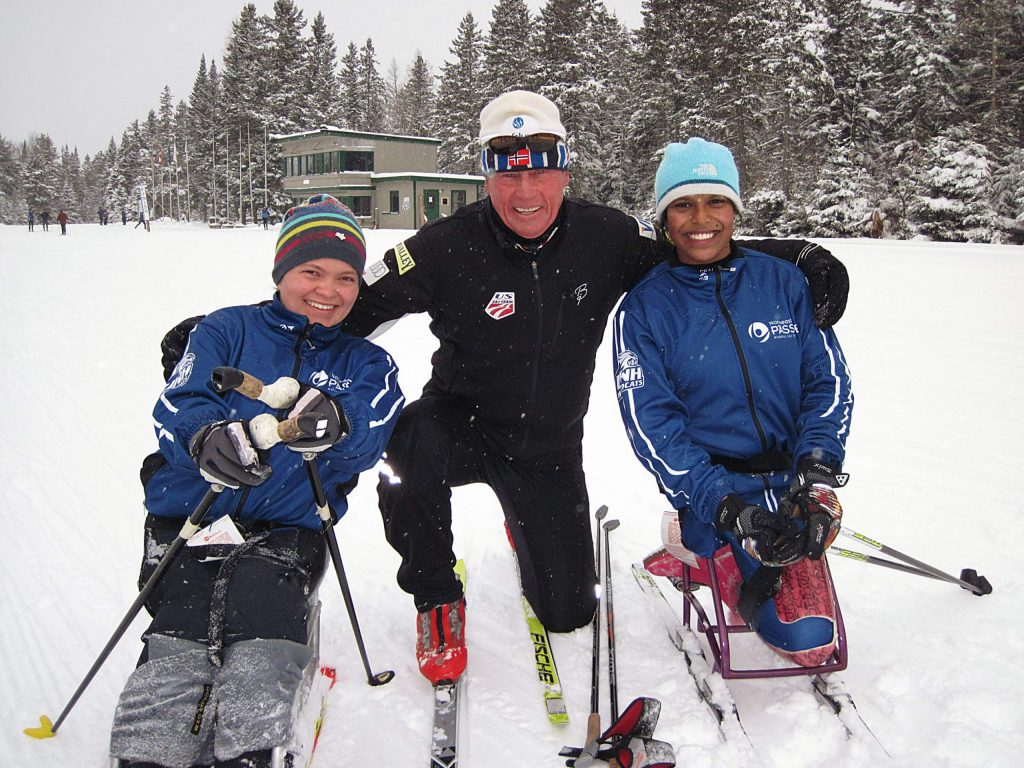 Longtime Summit County local Jon Kreamelmeyer, center, coached the U.S. Disabled Ski Team for years.