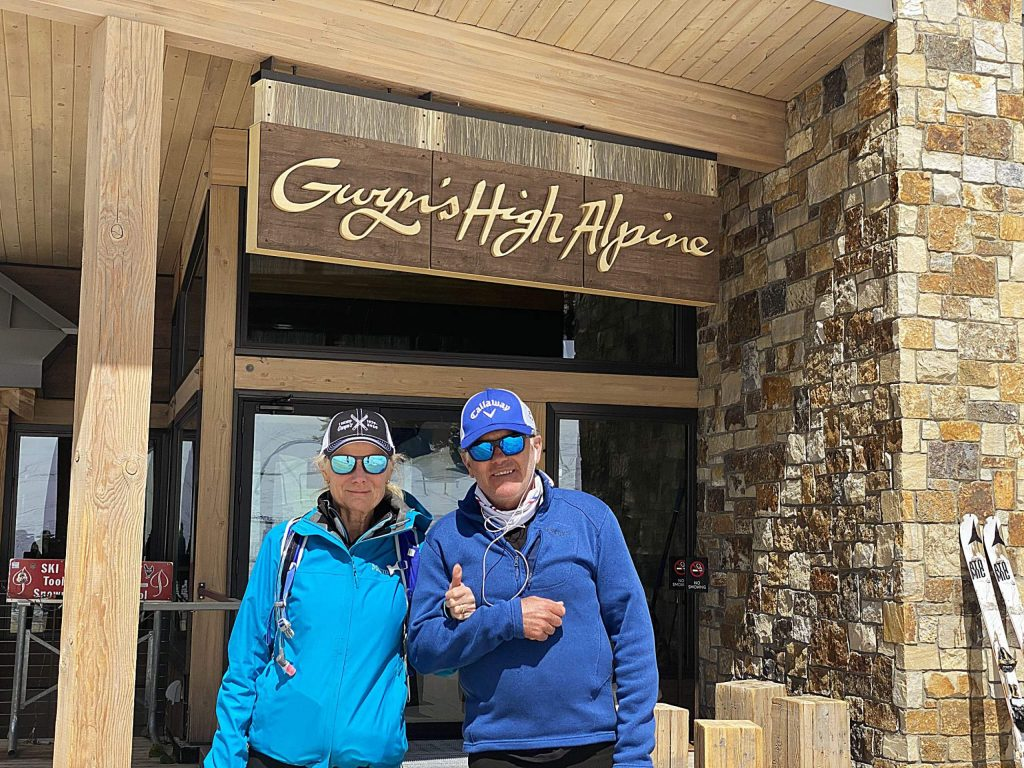 """Gwyn's High Alpine Restaurant was supposed to have its big closing-day bash on April 12, but that was not to be because of the pandemic. After skinning up that day, Snowmass Village Hundert found Gwyn and her husband, Steve Knowlton, at the Snowmass on-mountain restaurant """"reminiscing and shedding a few tears, like all of us who lived through the more than 40 years of them serving our families,"""" he said."""
