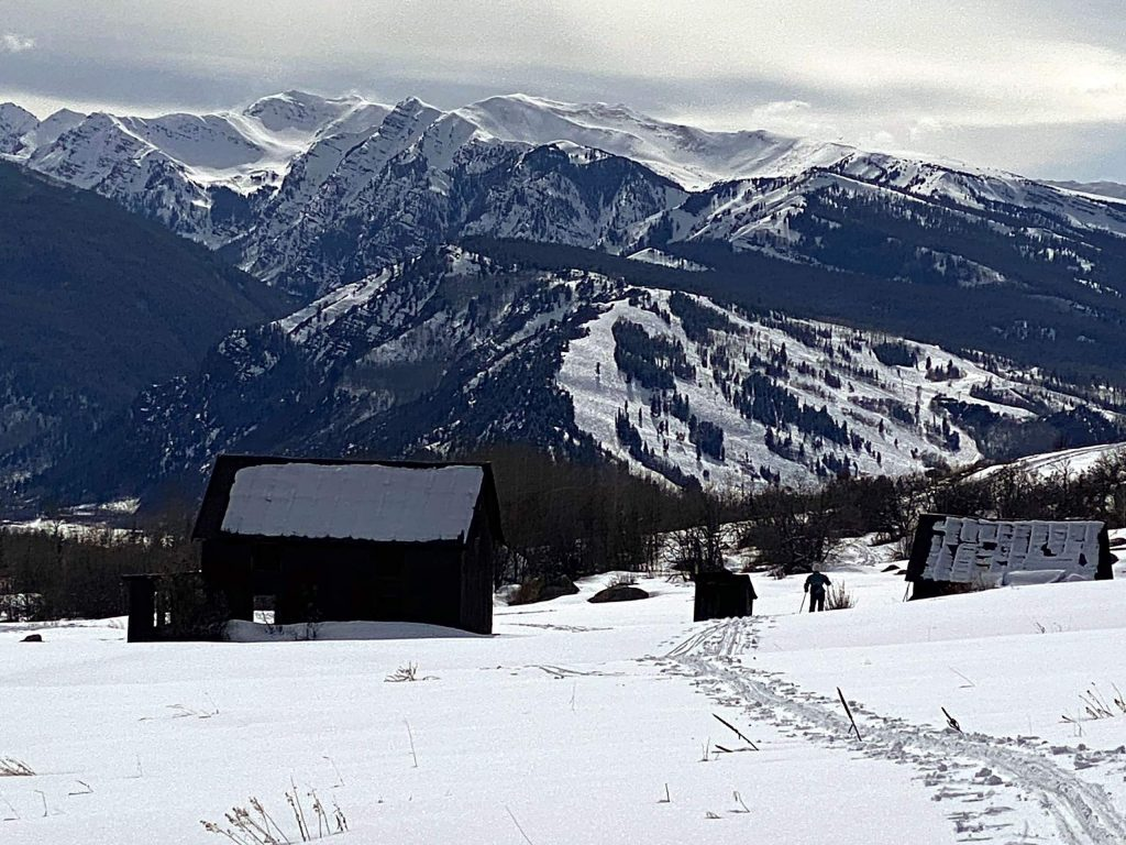 Reader Buddy Bates recently snapped this photo while cross-country skiing with his wife, Connie, in the Hunter Creek Valley.