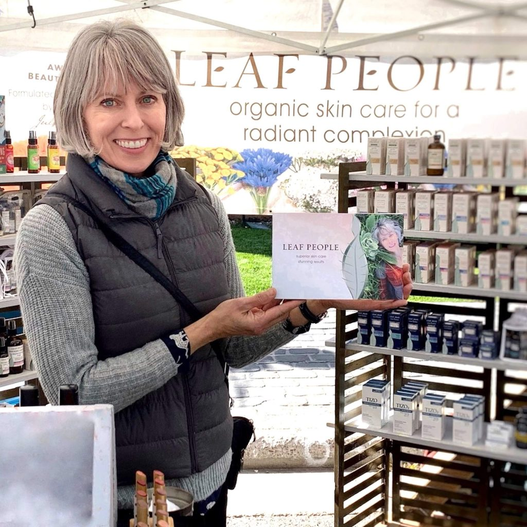 Julie Levin runs Leaf People in Aspen, which focuses on organic skin care products.