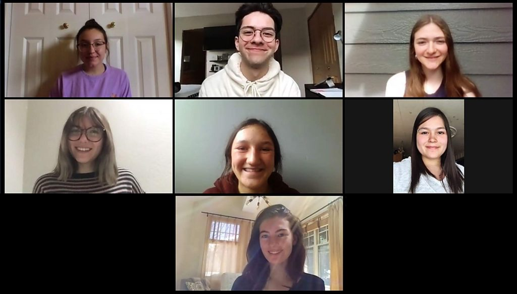 The 2020 Young Curators of the Roaring Fork meeet via Zoom after social-distancing and shelter-at-home orders went into place.