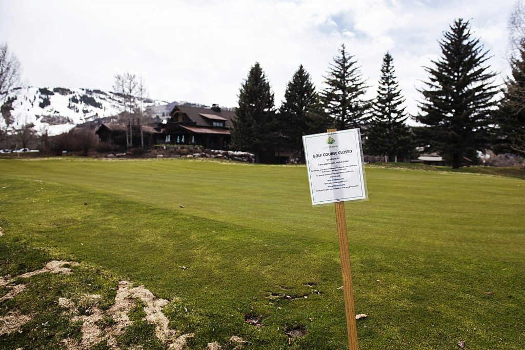 Due to the Colorado Stay at Home order, the Aspen Golf Club remains closed on Thursday, April 23, 2020. (Kelsey Brunner/The Aspen Times)