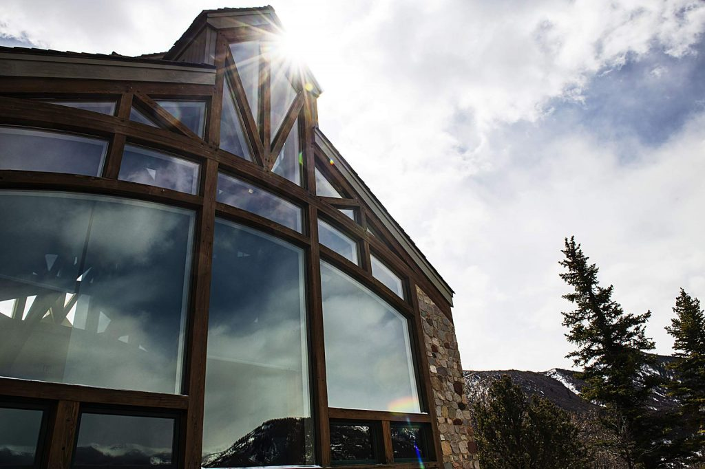 Sun shines on the Retreat House of St. Benedict's Monastery in Old Snowmass on Tuesday, April 14, 2020. (Kelsey Brunner/Snowmass Sun)