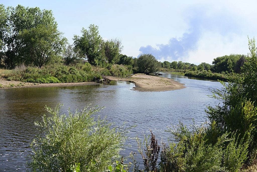 The South Platte River runs near a farm in Henderson, Colorado, northeast of Denver. Henderson is the site of one of the possible reservoirs for the regional water project proposed by SPROWG.