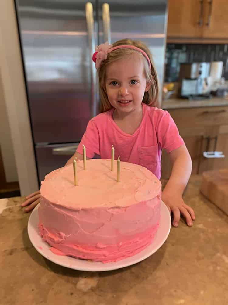 Adeline Woodson of Snowmass Village turned 4 with a pink ombre cake she baked with her dad.