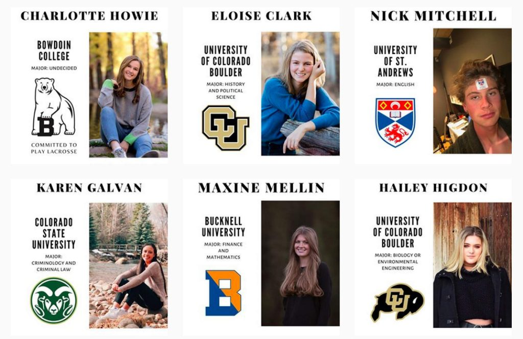 Aspen High School senior Maxine Mellin is behind a new Instagram account (@aspenseniors2020) that lets the students share their college decisions.